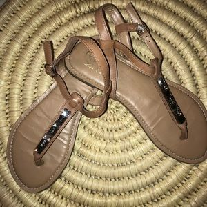 Frankie Sarto Tan Sandals